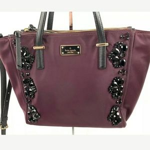 Kate spade handbag wilson road alyse embellished